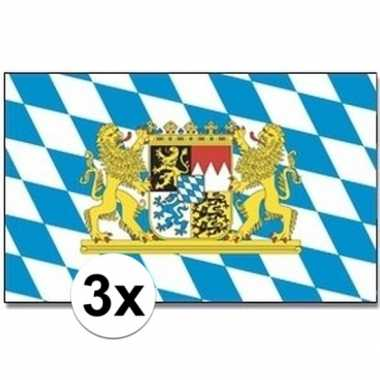 Duitse 3x landenvlaggen bayern/bijeren