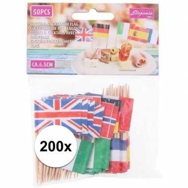 Duitse landenvlag prikkers 200 stuks