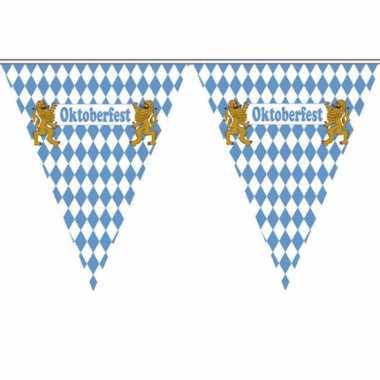 Duitse  Vlaggenlijn blauw wit geblokt
