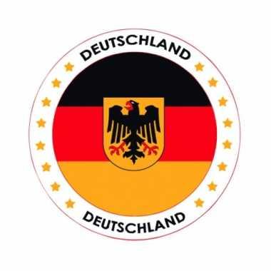 Viltjes Duitse vlag opdruk