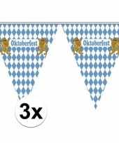 Duitse 3x vlaggenlijnen blauw wit geblokt