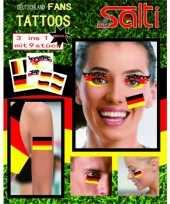 Duitse velletje tattoos 9 stuks
