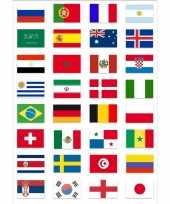 Duitse wereld kampioenschap voetbal 2018 vlag pakket gekwalificeerde landen